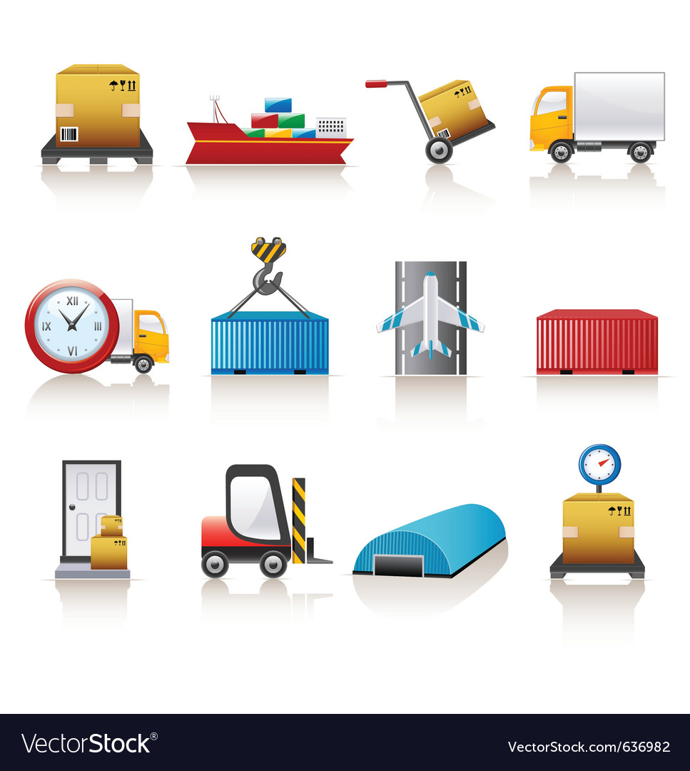 Logistics icons vector
