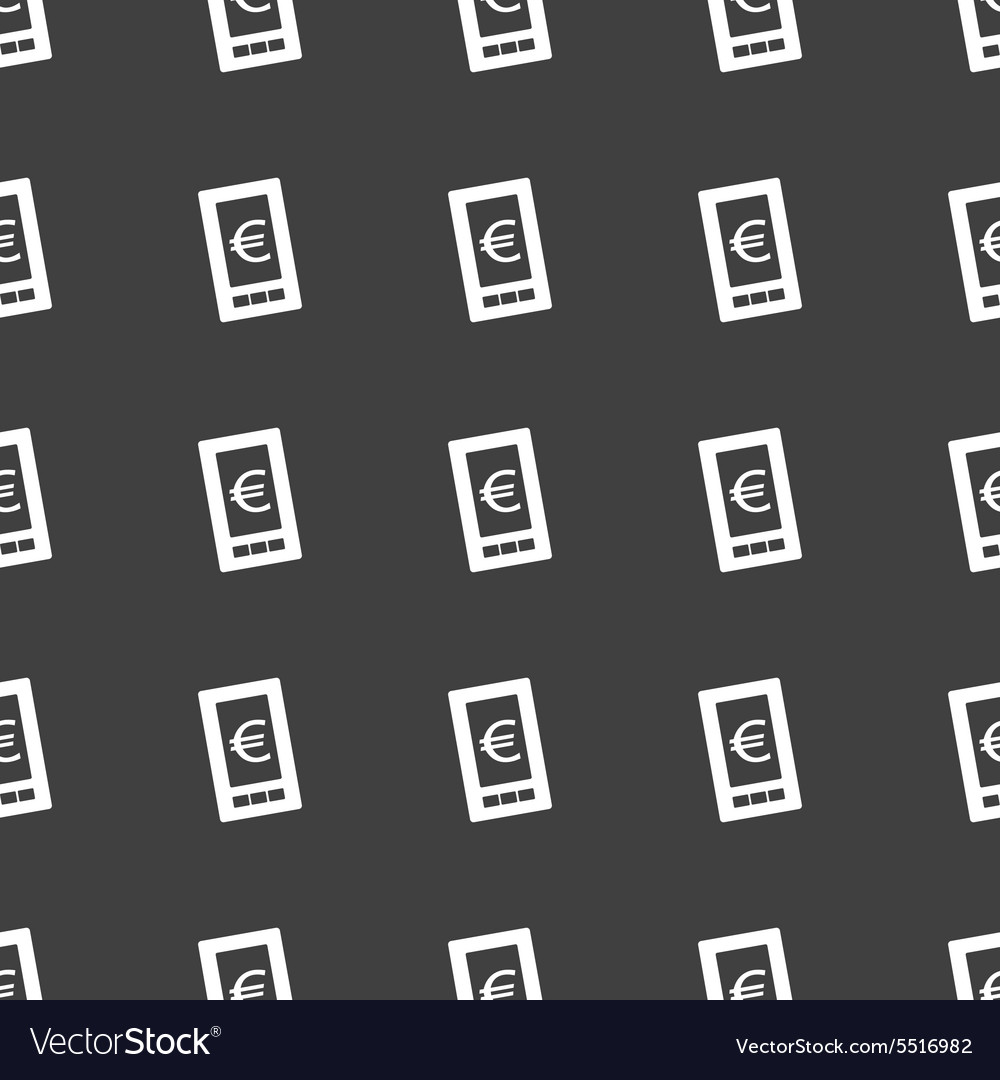 Straight black euro screen pattern vector