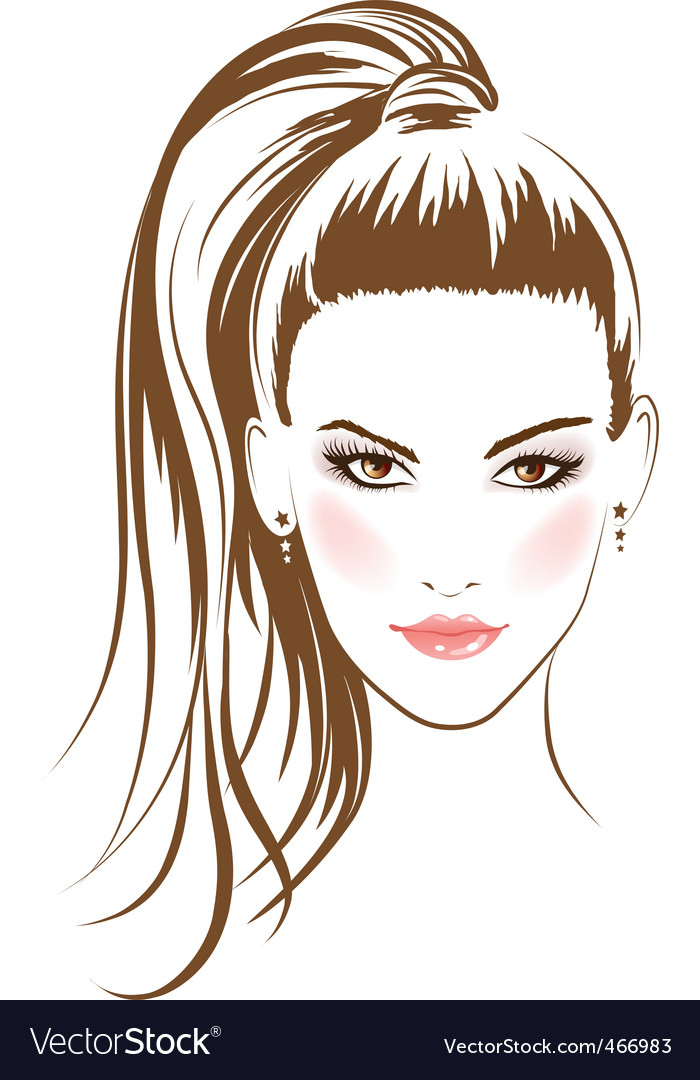 Glamour girl vector