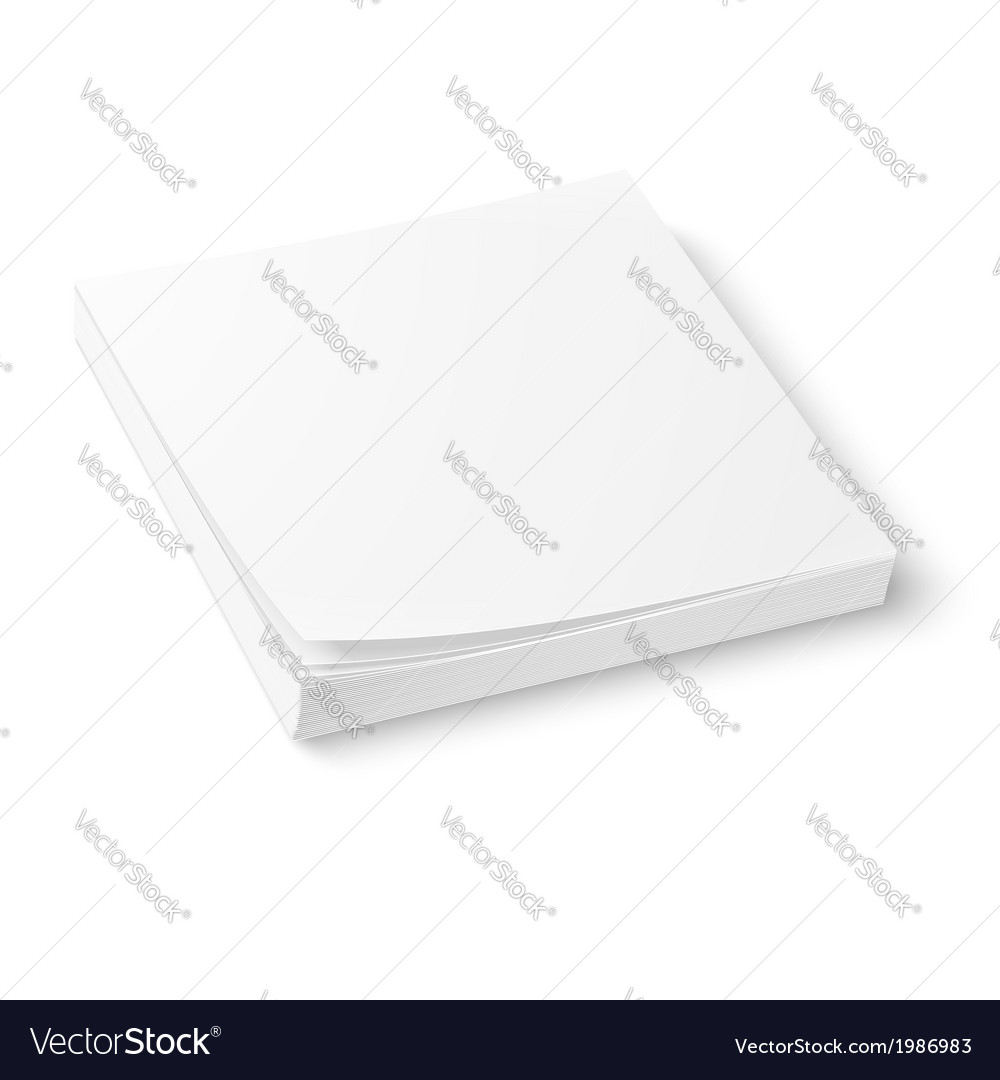 White paper block template vector