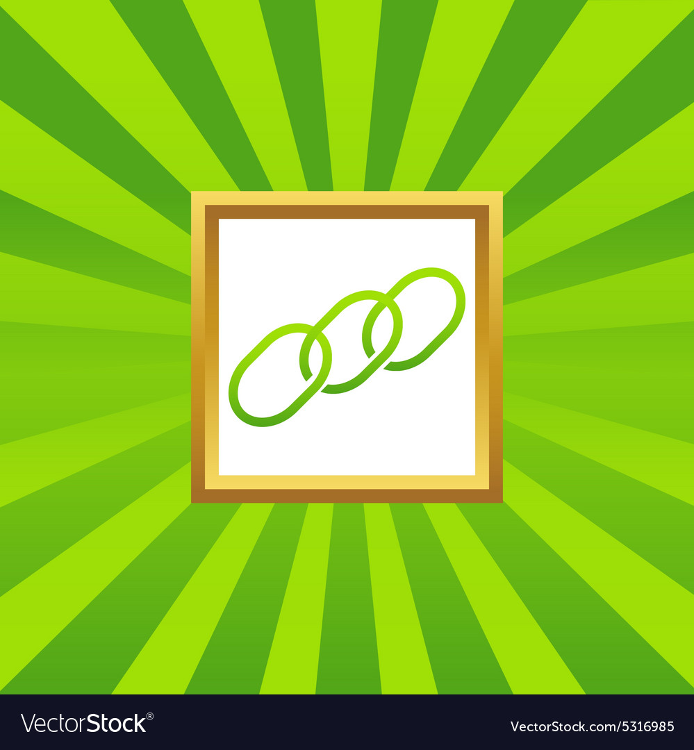 Chain picture icon vector