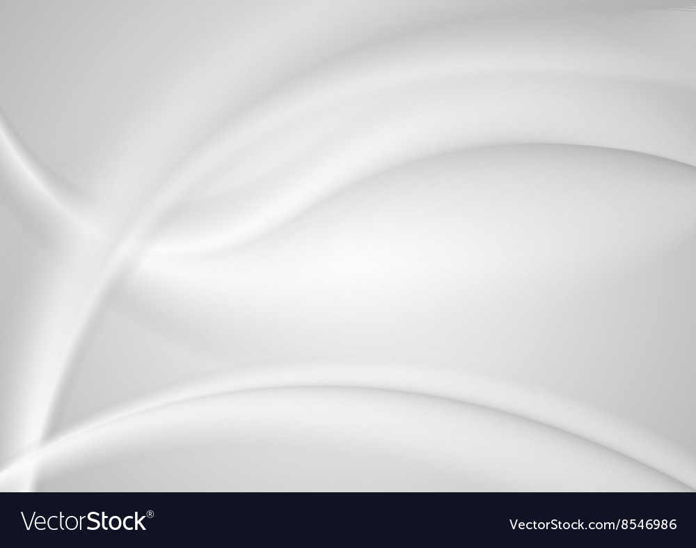 Abstract smooth grey pearl waves background vector