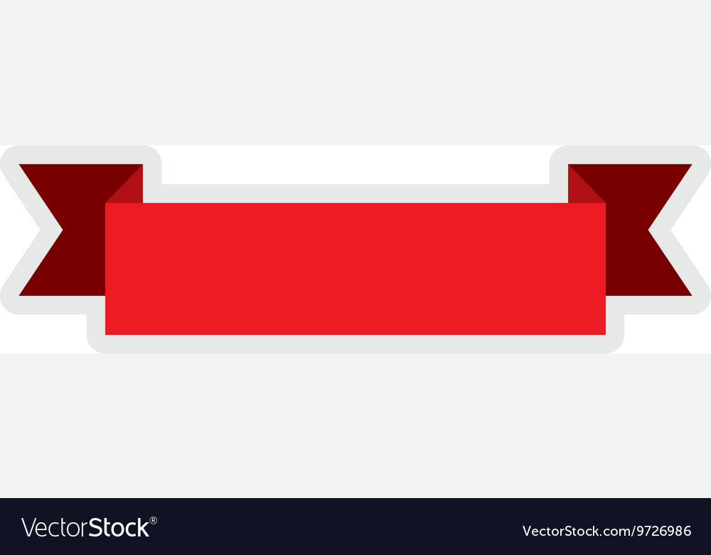Red ribbon icon label design graphic vector