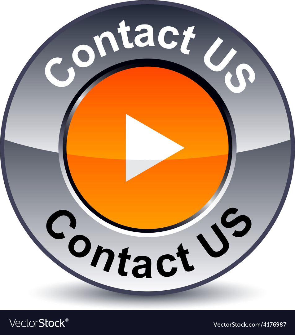 Contact us round button vector