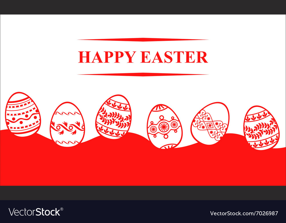 Easter eggs back vector
