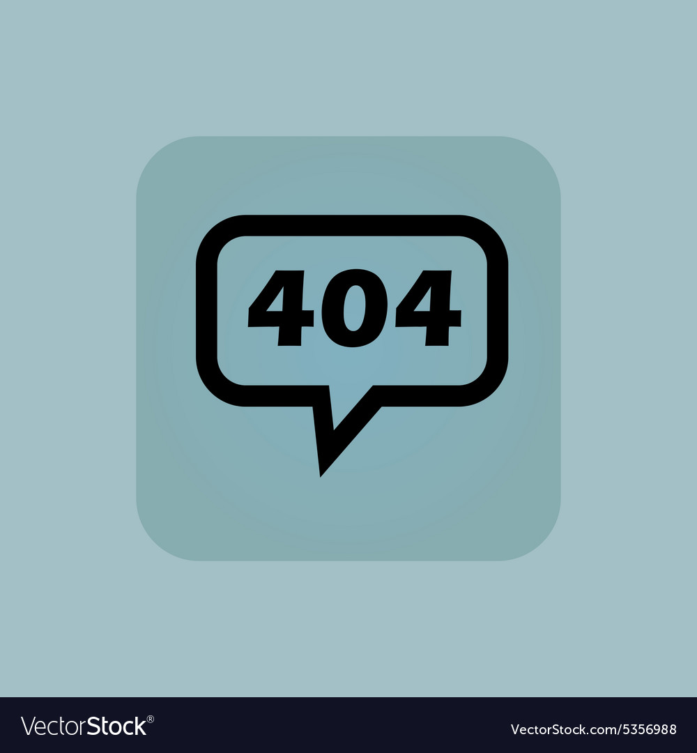 Pale blue error 404 message vector