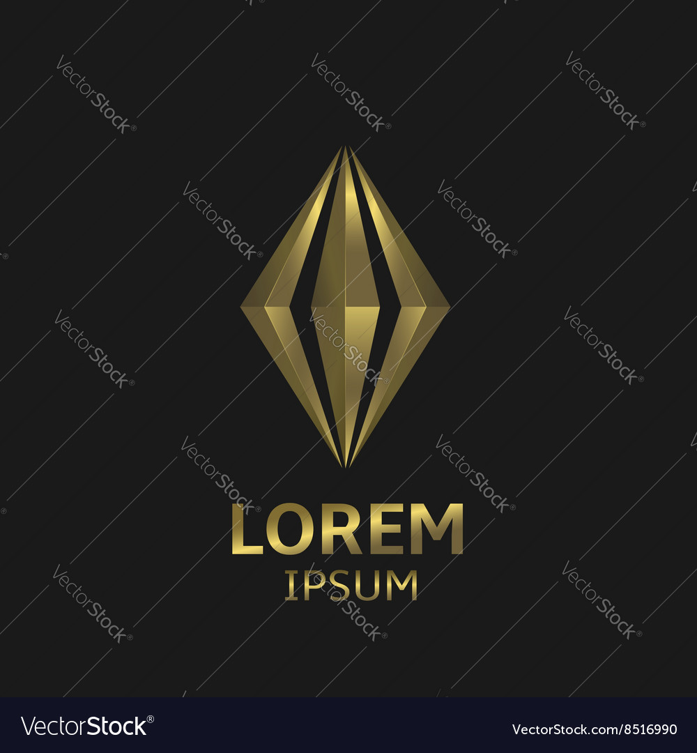 Golden abstract logo vector