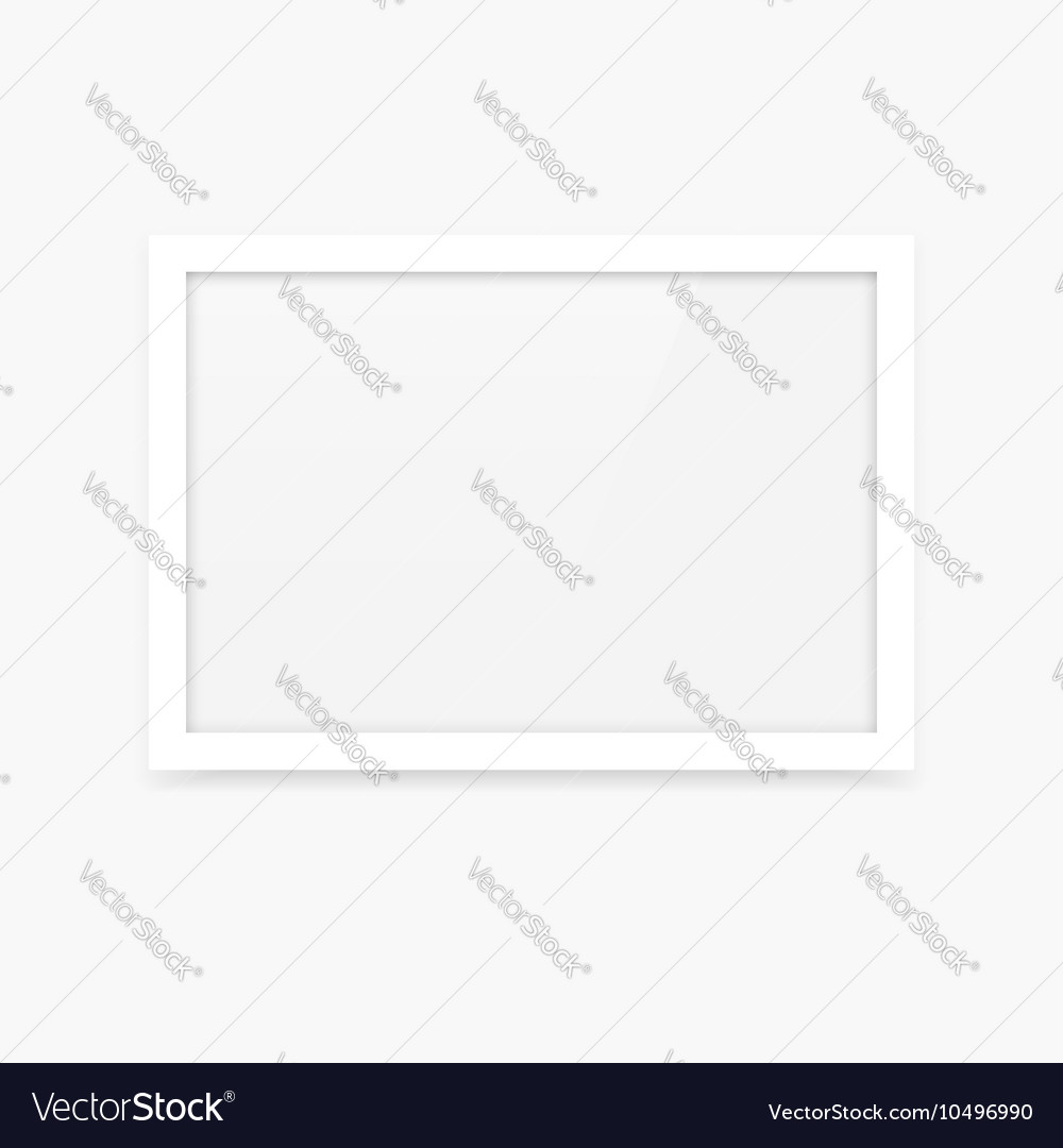 Horizontal photo frame vector