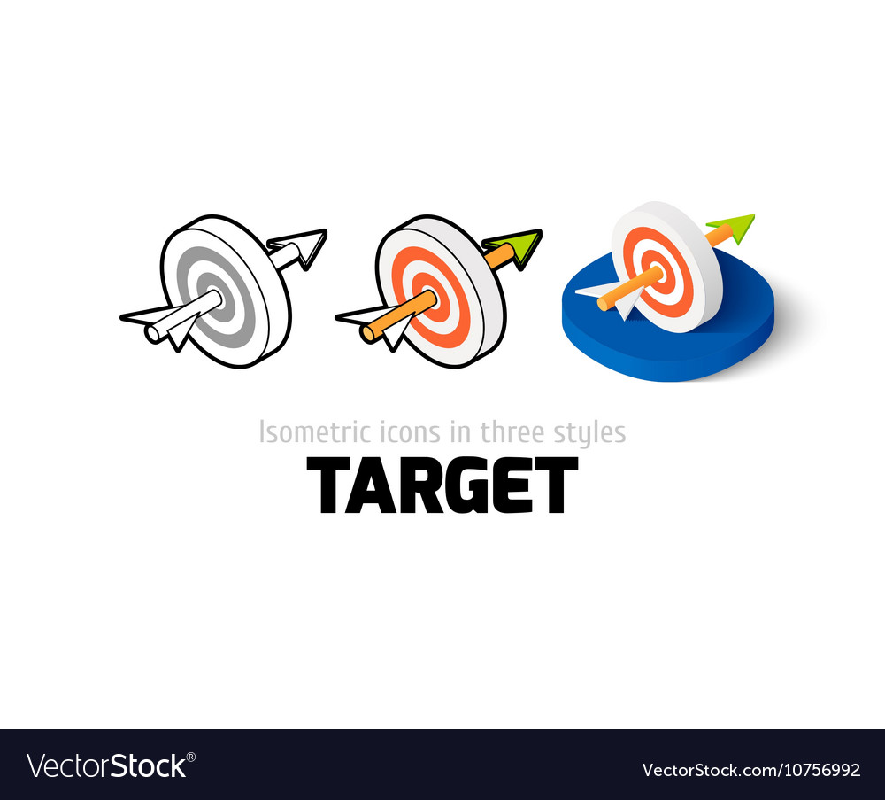Target icon in different style vector