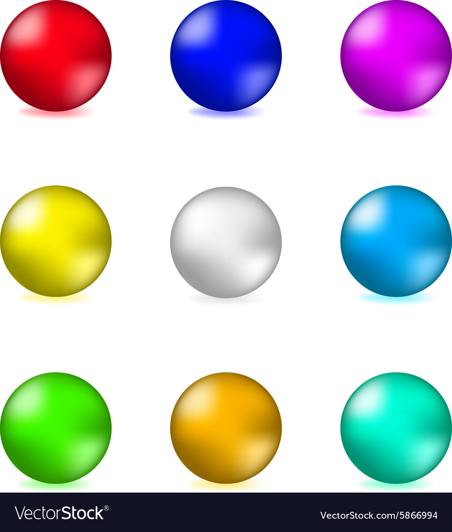 Shiny glossy colorful spheres vector