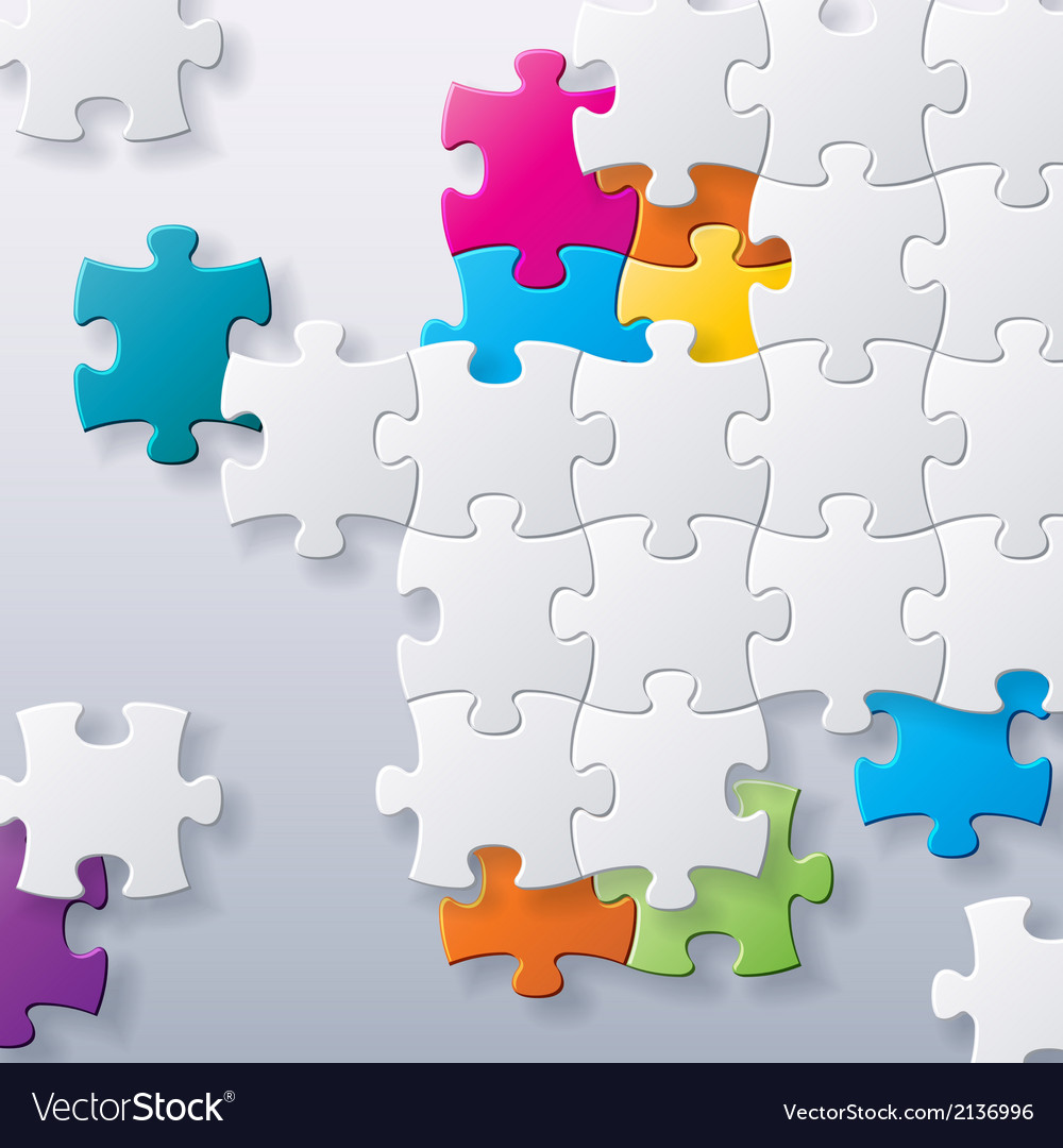 Abstract concept puzzles background vector