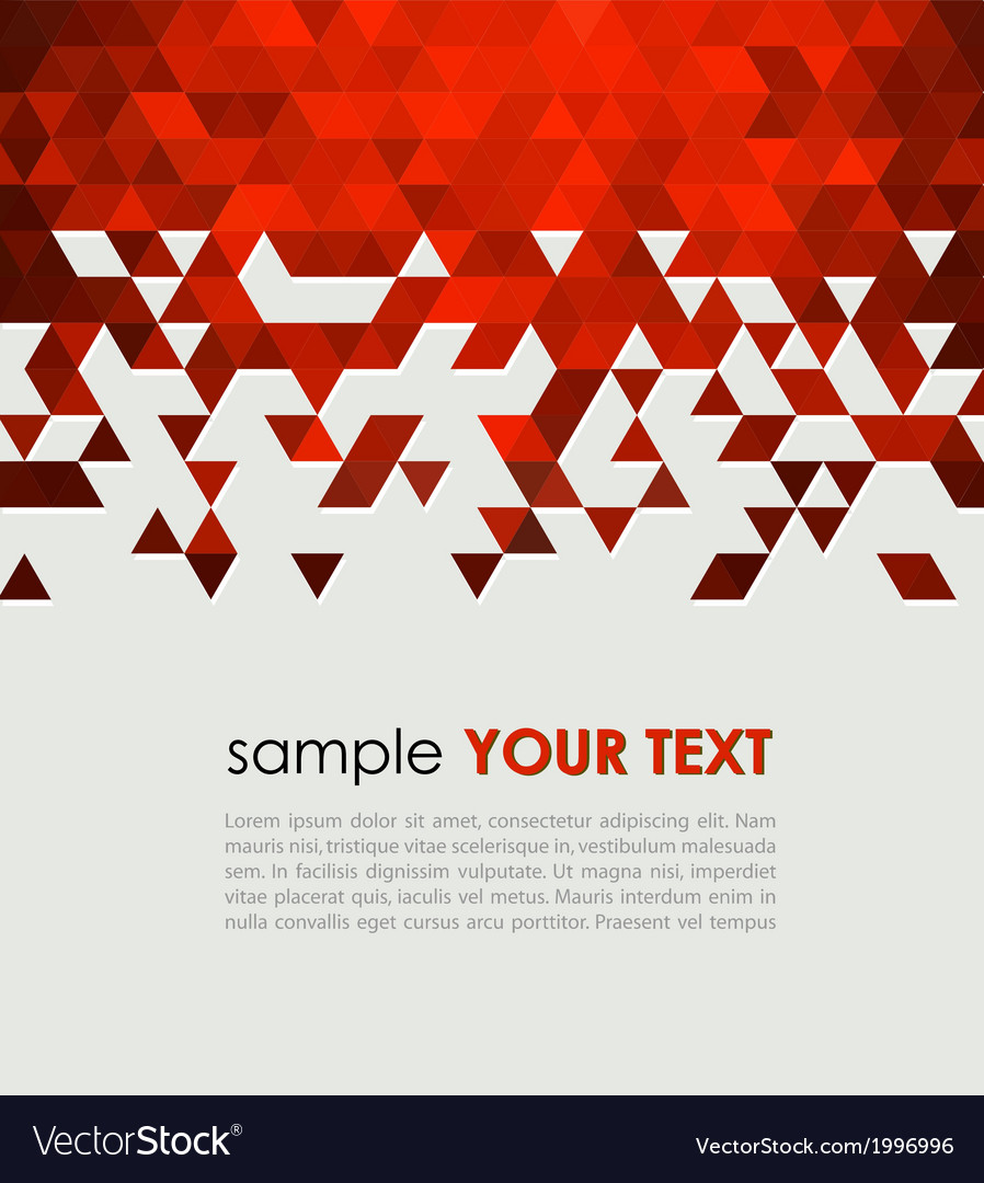 Abstract technology background with triangle vector