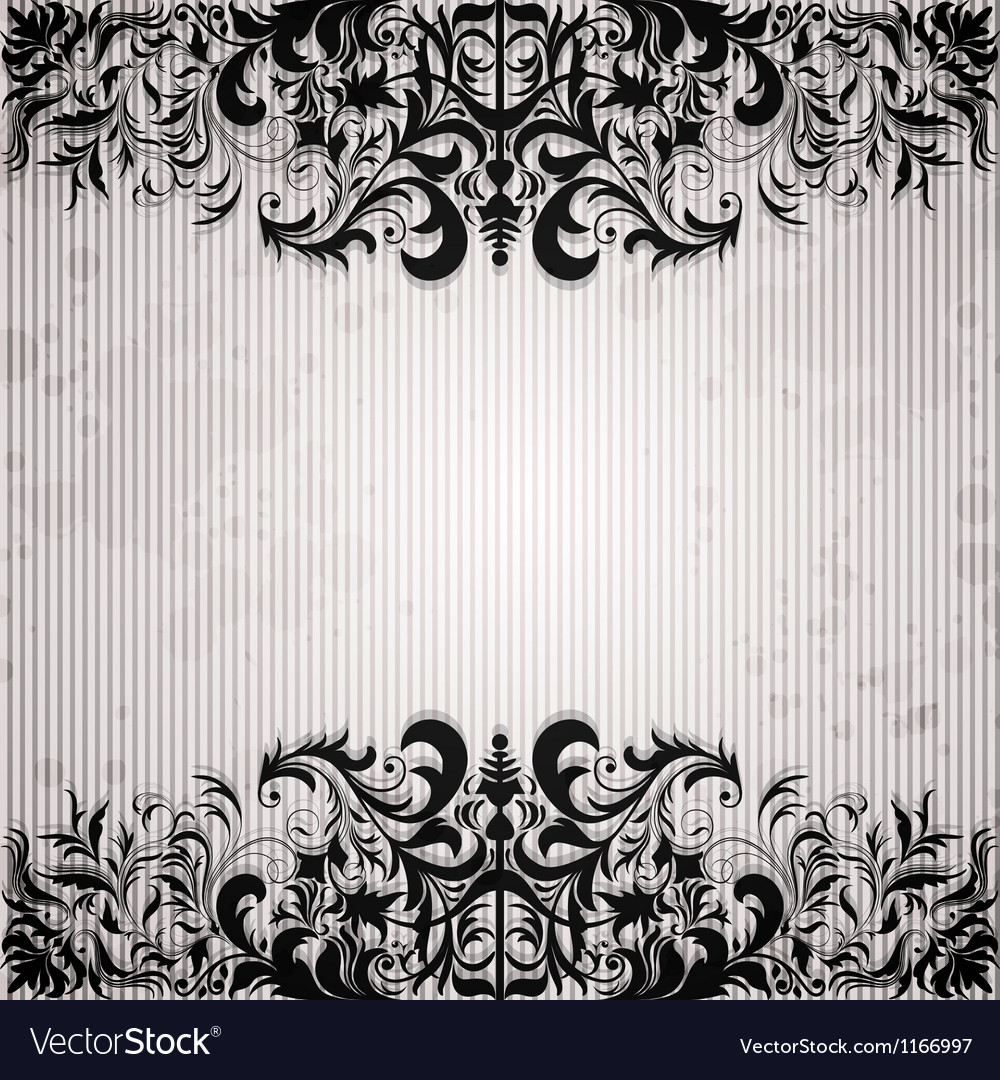 Luxury background with vintage frame and stripe vector