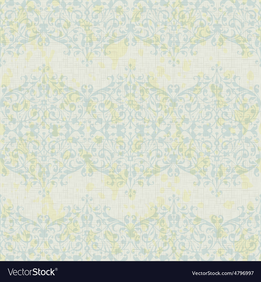 Turquoise floral seamless pattern vector
