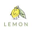 citrus lemon vector image