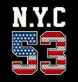 america flag 53 vector image