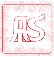 AS monogram vector image vector image