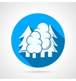 Round blue icon for forest vector image