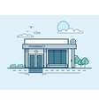 city street with pharmacy modern architecture in vector image vector image