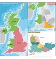 Map of South East England vector image