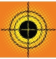 Target pop art style blurred vector image