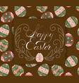 easter eggs pattern ornament with an vector image