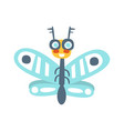funny cartoon flying fly insect colorful vector image