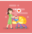happy mother caring her kid vector image