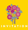 merygold flower card template design vector image