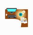 office workplace decor on vector image