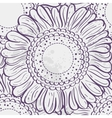Seamless texture stylized sunflowers purple vector image