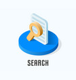 search icon symbol vector image