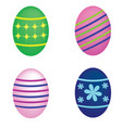set of easter eggs on white background vector image