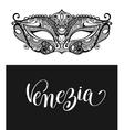 venezia calligraphy brush lettering text design vector image
