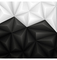 Abstract geometrical black and white background vector image