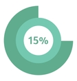 Web preloader 15 percent icon flat style vector image