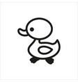 duck icon in simple monochrome style vector image