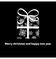 Christmas card gift box with ribbon  EPS8 vector image vector image