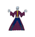 Bald Sorcerer Casting Spell Isolated Cartoon vector image vector image