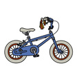 Blue child bike vector image