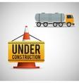 Under construction design supplies icon road vector image