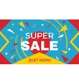 Big super sale horizontal banner vector image