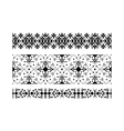 Black ethnic ornamental set on white vector image