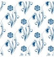 blue floral seamless pattern in Gzhel style vector image