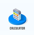calculator icon symbol vector image