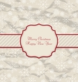 Old Invitation with Snowflakes Texture for Winter vector image