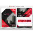 red black triangle square annual report brochure vector image