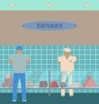 Sausage showcase flat icon vector image