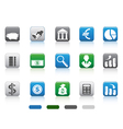 square button of simple Finance and Banking icons vector image