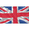 UK Flag waving vector image
